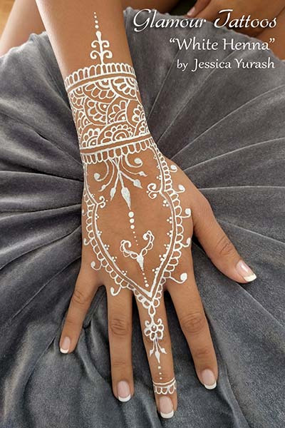 Bay Area Face Painters Waterproof Glitter Glamour Tattoos White Henna