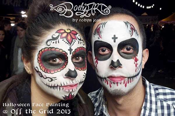 Halloween & Day of the Dead Sugar Skull Face Painting | Bay Area ...