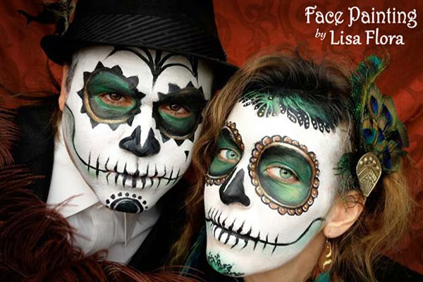 halloween kids face painting san francisco bay area face painters - Halloween Skull Painted Face
