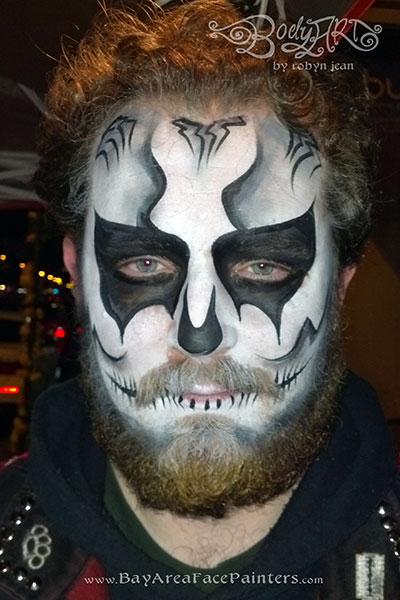 Suagr Skull Face Painting