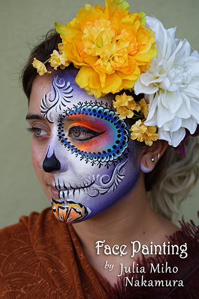 Bay Area Face Painters Sugar Skulls Day Of The Dead Dia