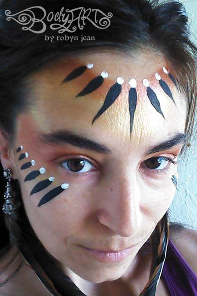 tribal adult face painting san francisco bay area face painters