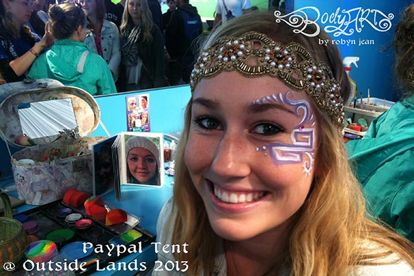 outside lands festival adult face painting san francisco bay area face painters