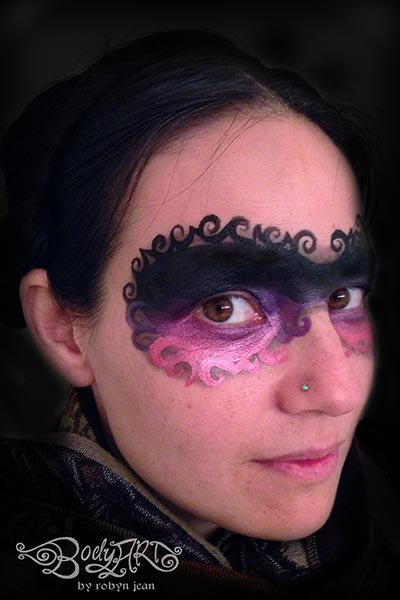 masquerade caberet adult face painting san francisco bay area face painters