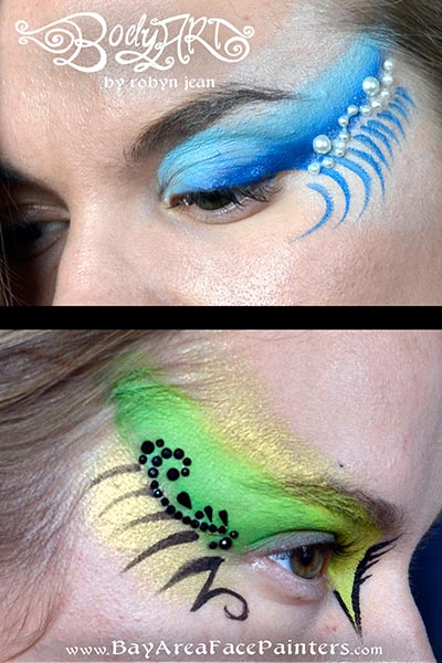 eye designs adult face painting san francisco bay area face painters