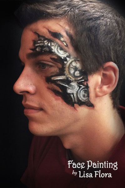 adult face body painting for men san francisco bay area face painters