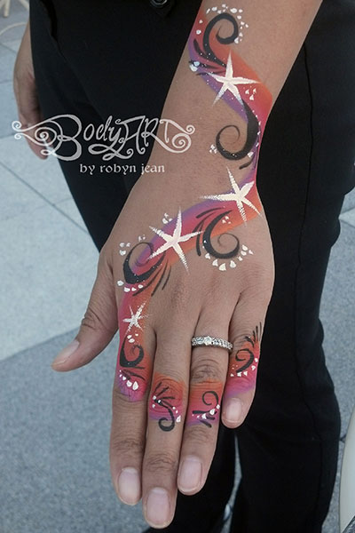 adult body painting san francisco bay area face painters