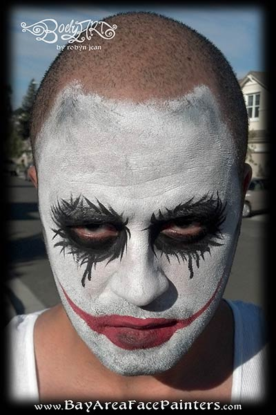 water proof face painting adult halloween the joker san francisco bay area